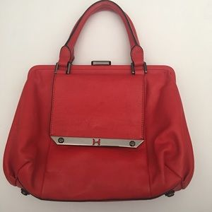 Halston Heritage Red Leather Handbag